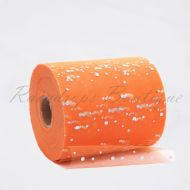 Orange Sequin Tulle Roll